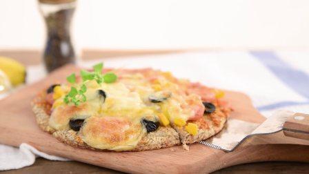 没有面粉也能做?低热量燕麦香蕉披萨!