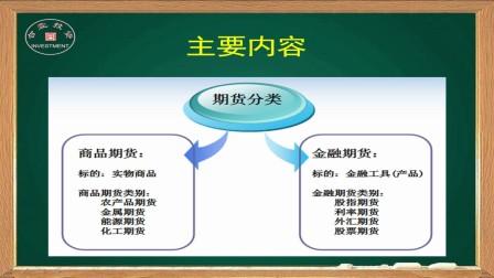 期货入门课程05:期货品种的分类