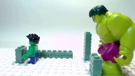 酷浩乐高搞笑定格动画_绿巨人的快乐生活