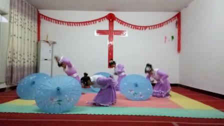 基督教伞舞(主爱如绵绵雨)自编,夹沟镇辛丰舞蹈团原创