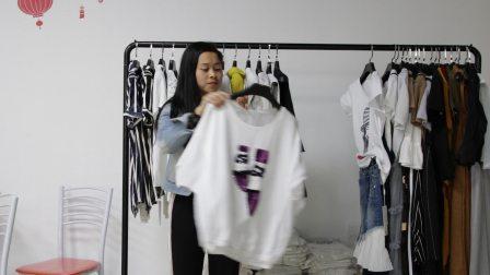 精品女装批发服装批发女士时尚夏款女士精品短T恤小衫30件起批,可挑款零售混批