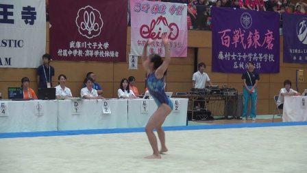杉岡咲希 2017日本高校综体女子体操决赛 自由操