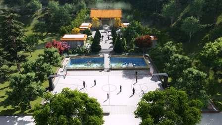 五行园林-寺庙建设-特色小镇设计公司-小镇规划设计施工-观音财神庙