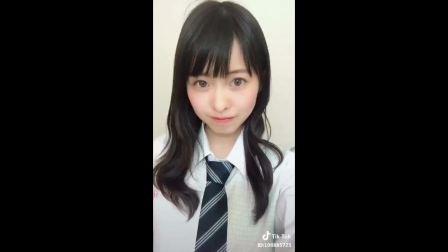 【抖音】這真的很可愛美麗的女人日本美女初中生高中生自拍视频收藏超級可愛女子高生!