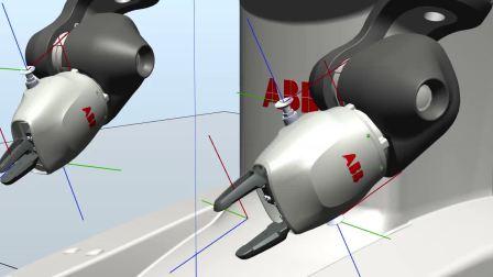 YuMi的SmartGripper指令的仿真实现效果