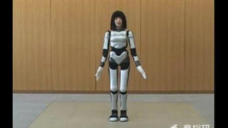 産総研が開発した女性型2足歩行ロボット