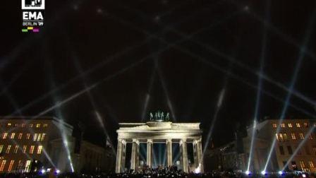 [宁博]重量级乐团 U2 纪念柏林墙倒塌20年现场音乐会现场助阵 MTV欧洲音乐大奖