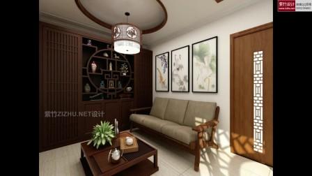 家装设计全景VR效果图:中式怀化自建房136平