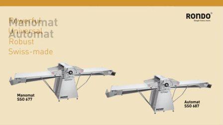 RONDO瑞士龙都:半自动压面机SSO677/SSO687开酥机起酥机