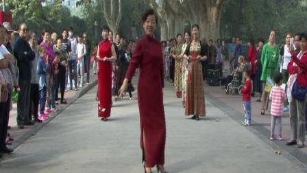 郑州人民公园姊妹模特队表演(风含情水含笑 )