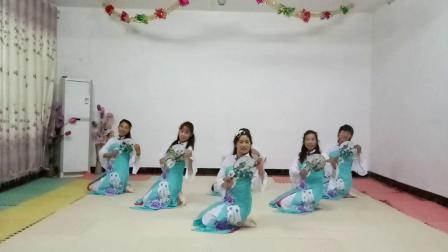 基督教舞蹈扇子舞(单单依靠你)自编,夹沟镇辛丰舞蹈团原创