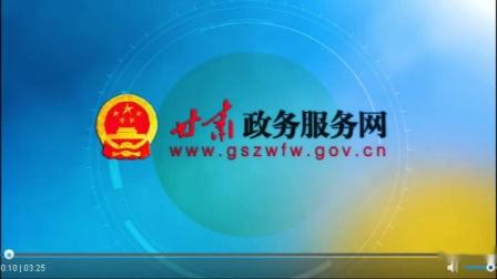 甘肃政务服务网