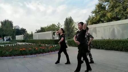鹤壁淇畔吉特巴水兵舞小王子一拖二刘朋唐组合(晨练)