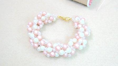 【串珠】粉白珍珠手链