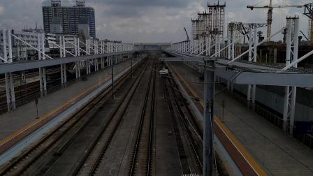 G9621(永州—广州南)本务广铁广九段,搭载CR400AF型重联车底,广州北站3站台进站