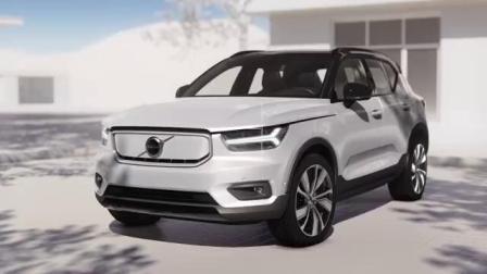 全新沃尔沃XC40纯电动SUV内部视频