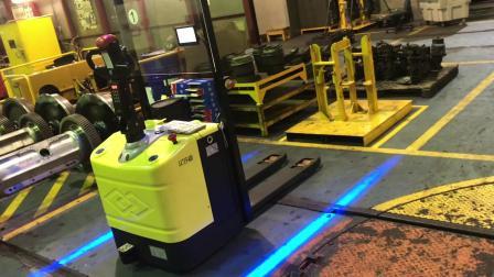 法艾斯Axter-AGV 激光导航叉车AGV在车间的应用