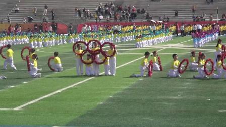 赣州市文清外国语学校一二年级团体操表演