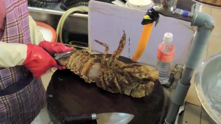 开眼了 台湾路邊小吃 鲜活琵琶虾龍蝦刺身