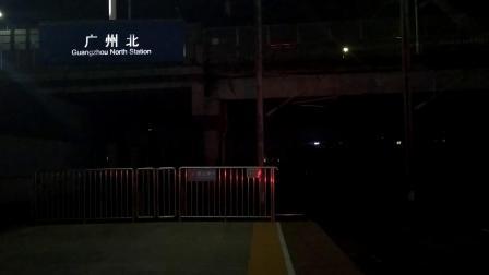 2019年11月6日,G821次(西安北站—深圳北站)本务中国铁路西安局集团有限公司西安动车段西安北动车运用所CRH380B统型重联高速通过广州北站