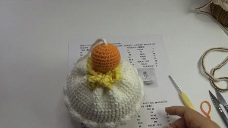 巧琳娃手作橘子蛋糕包球球教程毛线编织图案