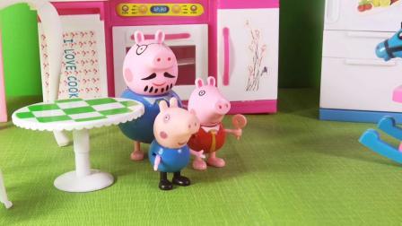 96 小猪佩奇和猪爸爸一起去果园摘苹果
