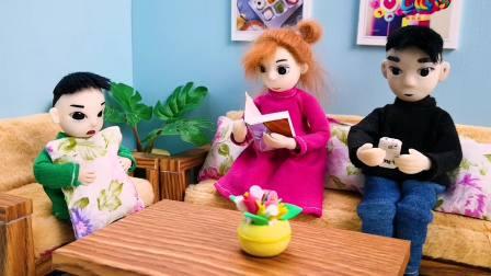 木瓜给爸爸妈妈考试,爸妈却都考0分,怎么回事