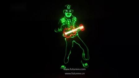 未来创意功夫LED光纤发光舞台表演 演出服.mp4
