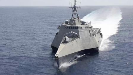 美海军独立级濒海战舰加布里埃尔·吉福德号(LCS 10)于南海区域游弋