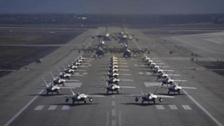 阿拉斯加埃尔门多夫-理查德森联合基地F-22战机大象漫步集群训练