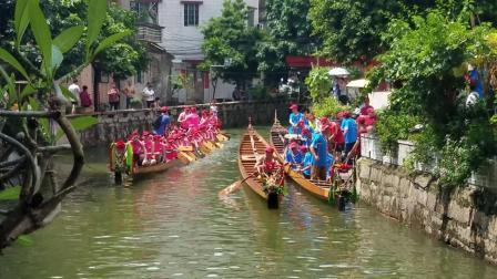 2020 南海叠滘村端午龙船游龙互访-东胜东龙船到访潭头三约