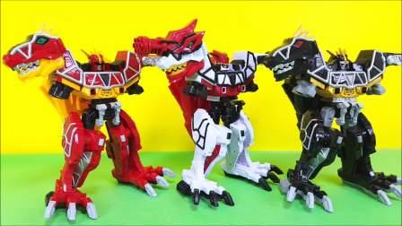 恐龙和列车机器人玩具变形展示