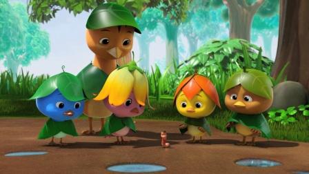 萌鸡小队 13 跟蚯蚓在雨中玩