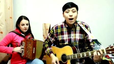 吉他弹唱 二手玫瑰《火车快开》(郝浩涵和奥德莉)