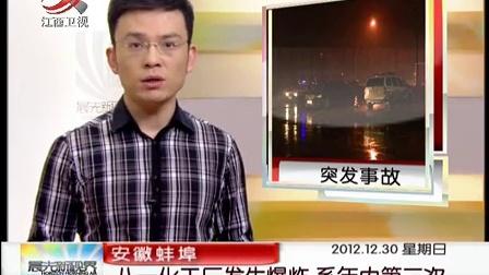 高清安徽蚌埠:八一化工厂发生爆炸 系年内第二次