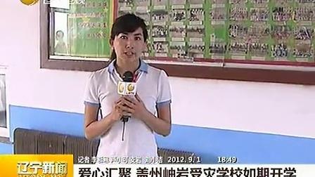 爱心汇聚 盖州岫岩受灾学校如期开学 120901 辽宁新闻