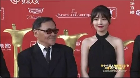 第十八届上海国际电影节实况回顾 《对风说爱你》剧组 上海电影节红毯