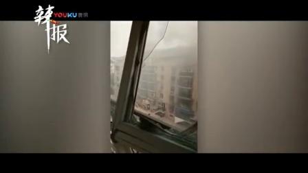 实拍天津一煤气罐车爆炸 气罐飞出造成居民楼着火