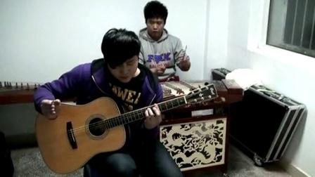 郝浩涵和朱霂吉他弹唱 公路之歌