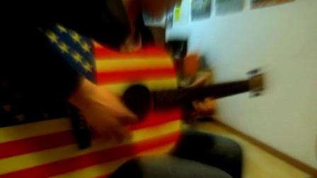 富九吉他练习中《灰色轨迹》尾奏