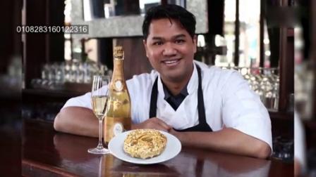 1006 黄金与水晶香槟制作的价值100美元的豪华甜甜圈