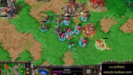 【皇冠之超神了】魔兽争霸xiaoy解说th000 vs 横跨北纬30度 AI