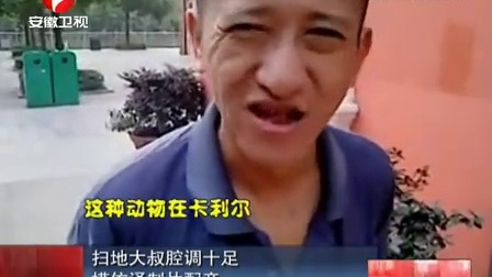 扫地大叔腔调十足 模仿译制片配音