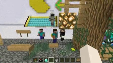 五歌我的世界小游戏系列 Minecraft<五歌X炎黄X默寒X大橙子X鬼鬼X小伙伴>【手残大联盟速建对抗赛初赛】