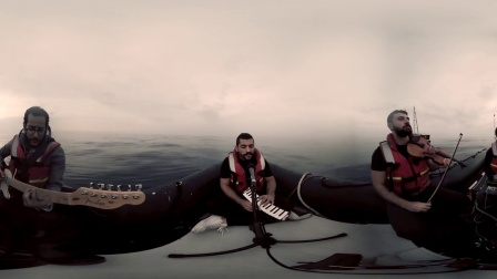 绿色和平:彩虹勇士上的乐队演奏Lebanese Band Mashrou' Leila on Rainbow Warrior