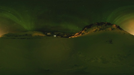 绿色和平:挪威北极之光Northern Lights near Tromsø, Norway