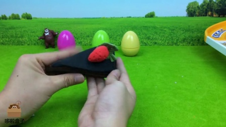 哆啦盒子玩具时间 2016 彩泥DIY制作黑森林草莓蛋糕 292 彩泥DIY黑森林草莓蛋糕