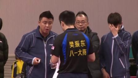 2016乒超联赛 [2016乒超男团第十一轮]八一樊振东1:3霸州梁靖崑