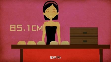中国女人乳房大小及胸罩罩杯报告 动漫科普