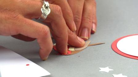 Sizzix创意手工 知更鸟报喜 圣诞卡片